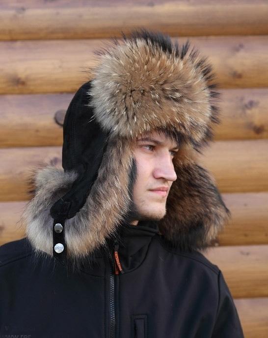 Мужские меховые головные уборы: кепки